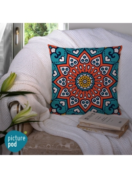 Indian Ornament Cushion - 50cm